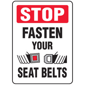 Forklift-Safety-Signs-Stop-Fasten-Your-Seat-Belts-With-Seat-Belt-Symbol-W1539-ba